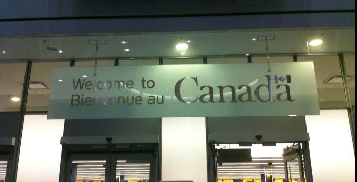 Travel to Canada, arrival